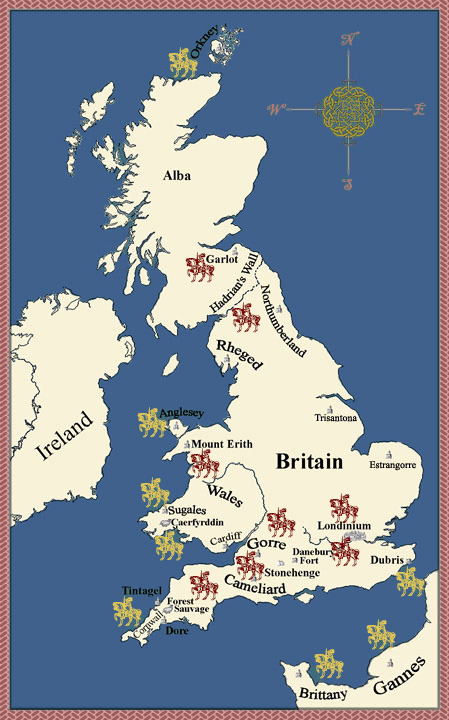 Interactive map of Arthurian Britain